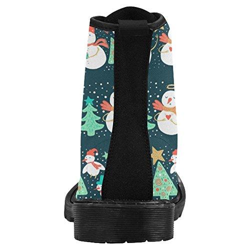 Botas Para Mujer Interestprint Botas Con Cordones De Diseño Único Y Diseño Multi 7