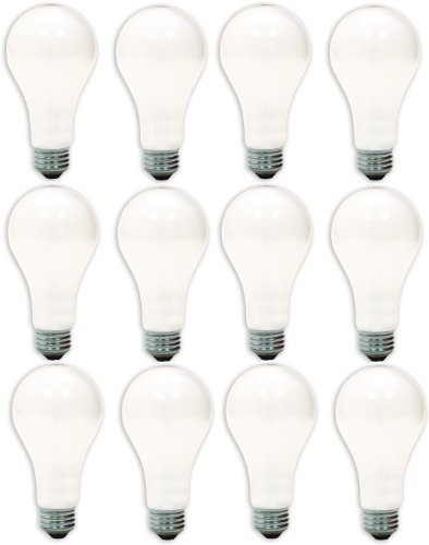 GE Lighting 97482-12 50/200/250-Watt A21 3-Way Soft White Light Bulb, 12-Pack