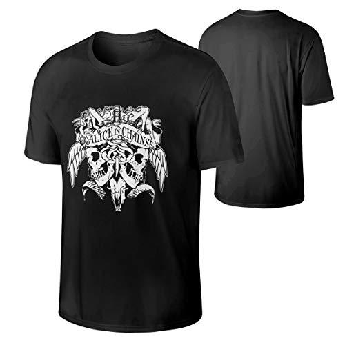 RobbinsTonya Alice in Chains Mans Classic Bonus Neck T-Shirt Black -