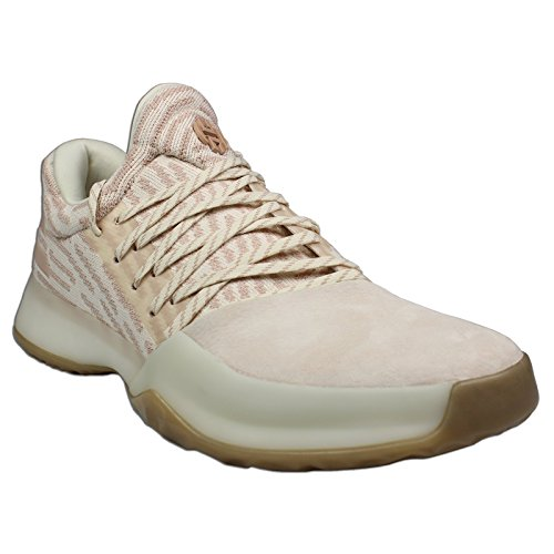 adidas Men's Harden Primeknit Vol.1 Basketball Shoes (11, White/Gum) (One Shoes Basketball)