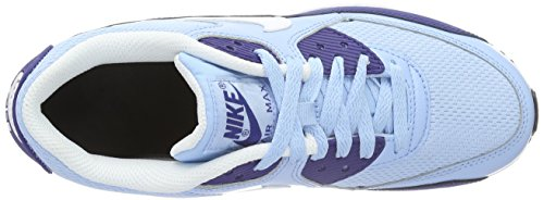 Nike Air Max 90 Mesh (Gs), Zapatillas de Running Para Niñas Azul (Phlox/white/flash Coral)