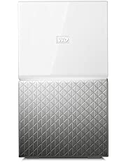 Western Digital 8TB My Cloud Home Duo Dual-Drive Personal Cloud, Centralised Storage- 3 Step Setup- Smart Device App- Network Attached- WDBMUT0080JWT-SESN, White/Silver