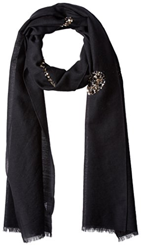 Marc Jacobs Women's Sequin Bow Scarf in Black Multi, One Size