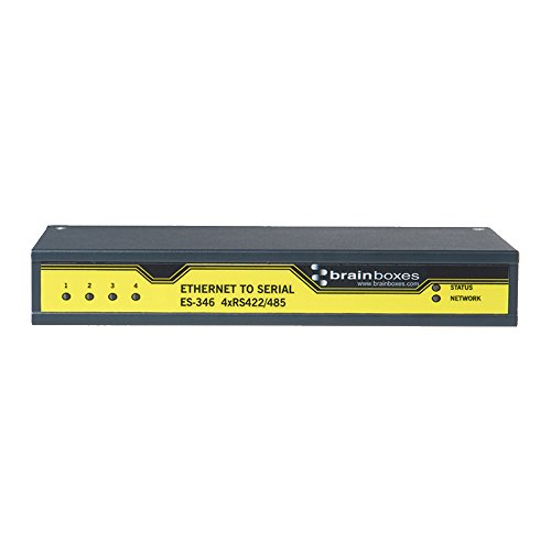 Brainboxes ES-346 4PORT RS422/485 ETHERNET TO SERIAL DEVICE SERVER 1 MEGABAUD by Brainboxes
