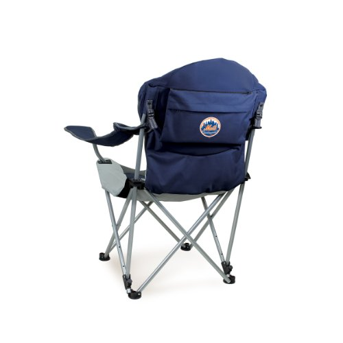 PICNIC TIME MLB New York Mets Portable Reclining Camp Chair -