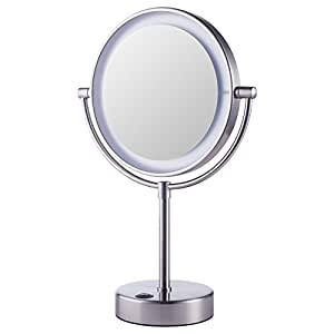 Espejo de aumento iluminado ikea kaitum con luces ba o y for Espejo tocador ikea