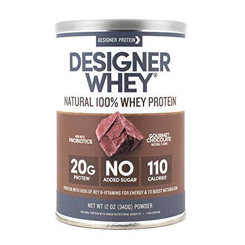 Designer Whey Protein Powder, Gourmet Chocolate, 12 Ounce, Non GMO