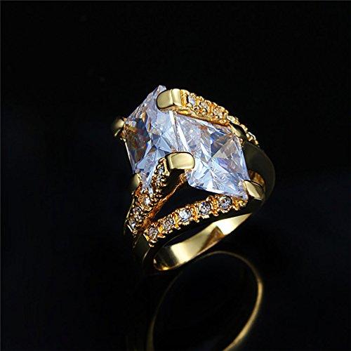 superhai 18K Gold Plated Sweet Irregular Zircon Luxury Jewelry Trend Exaggerated Hand Ring Female - Catalogue Swiss American