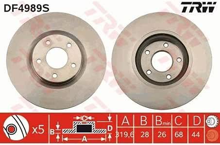 TRW AUTOMOTIVE AFTERMARKET DF4853S disco de freno