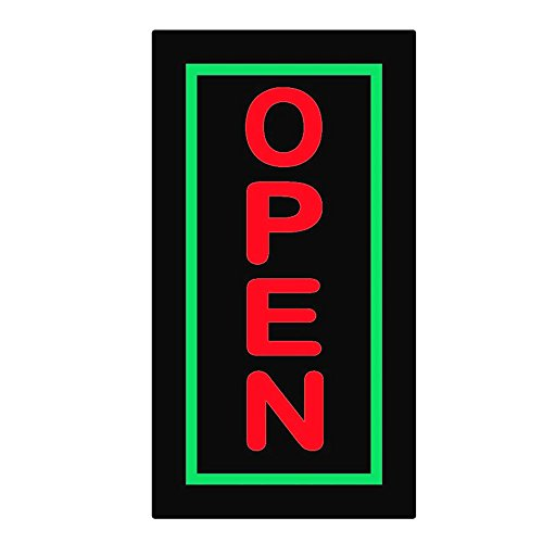 17 x 9-In Vertical Fixed Flashing LED Neon Sign Open Animation Business Movement Marks - Colorful EPMC Resin Cigarettes Open