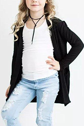 Geckatte Toddler Girls Boyfriend Cardigan Open Front Long Sleeve Knit Sweater with Pockets by Geckatte (Image #2)