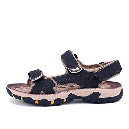 Xing Hommes Sandales Filles Chaussures Nouvelle Sports Cuir Grandes 36 Noir Marée La D'Été Jeunesse Sandales Été Loisirs Plage Lin En Et Men'S 77w5pr