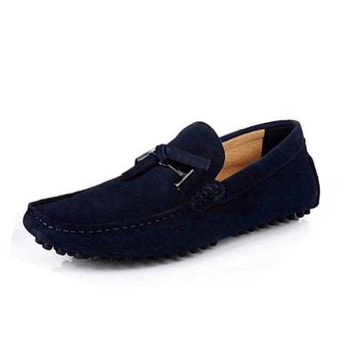 Happyshop (tm) Mocasines Para Hombre Mocasines De Gamuza Zapatos Slip-on Driving Zapatos Eur Talla 38-45 Azul Oscuro