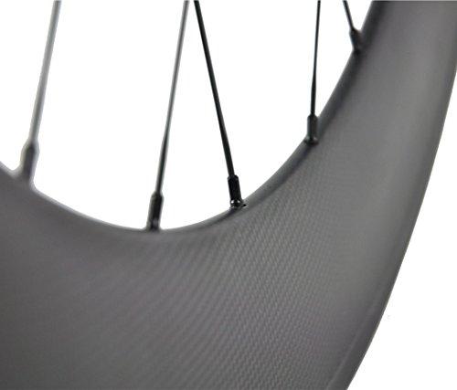 Sunrise Bike Carbon Track 88mm Matte Finish Clincher Rear Wheel for Fixed Gear Bike by SunRise (Image #2)