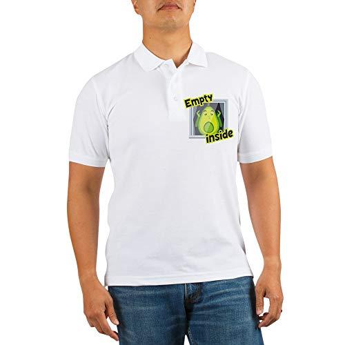 CafePress Emoji Avocado Empty Inside Golf Shirt, Pique Knit Golf Polo -