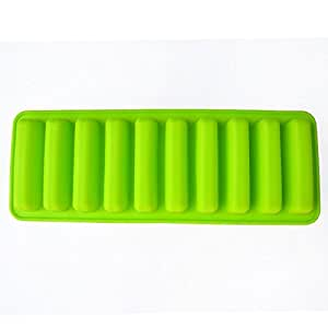 Silicone Ice Cube Tray Mold Ice Mould Fits For Water Bottle Ice Cream Markers Tools (green)