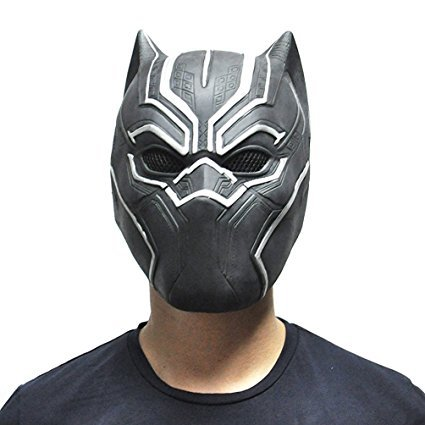 [Black Panther Mask Movie Fantastic For Cosplay Halloween Fancy Ball Party] (Panther Costumes)