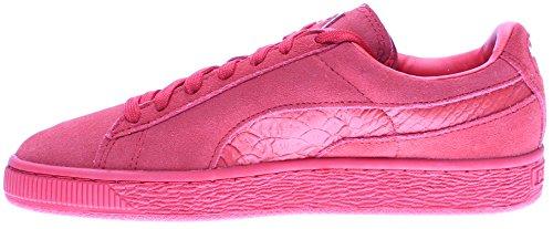 Puma Heren Suède Classic Mono Reptiel Fashion Sneaker Rood