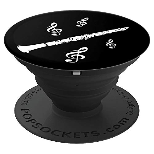 Clarinet Woodwind Instrument Bass Clef - PopSockets Grip and Stand for Phones and Tablets