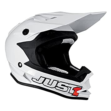 Just 1 Helmets J32 Casco Moto Star America, Blanco (Solid White), XS
