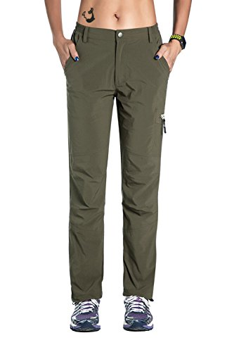 Unitop Women's Sportswear Quick Dry Hiking Pants Green M 30'' Inseam by Unitop