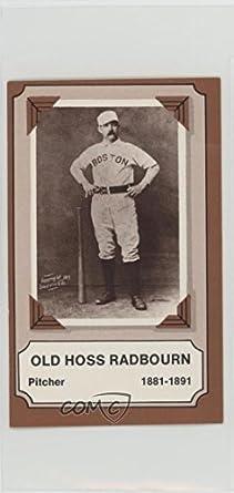 Amazoncom Charles Radbourn Baseball Card 1975 Fleer Cloth