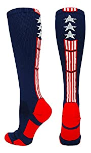 MadSportsStuff Patriot Stars and Stripes Over the Calf Socks (multiple colors)