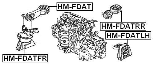 Febest Front Engine Mount For Honda 50820Snbh01