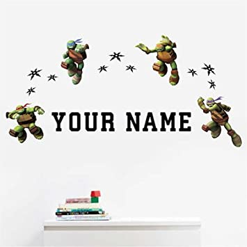 Personalized Teenage Mutant Ninja Turtles Kids Name Wall Decal