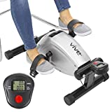 Vive Pedal Exerciser - Magnetic Peddler Stationary Cycle Bike - Under Desk Workout for Legs and Arms - Mini Spin Bike Low Impact Exercise with Adjustable Resistance - Portable Home and Office Fitness