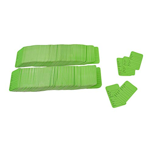 (DBM IMPORTS 1000 Pcs Large Green Merchandise Coupon Price Tag Clothing Perforated 1-3/4