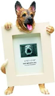 german shepherd picture frame holds your favorite 25 by 35 inch photo hand painted realistic
