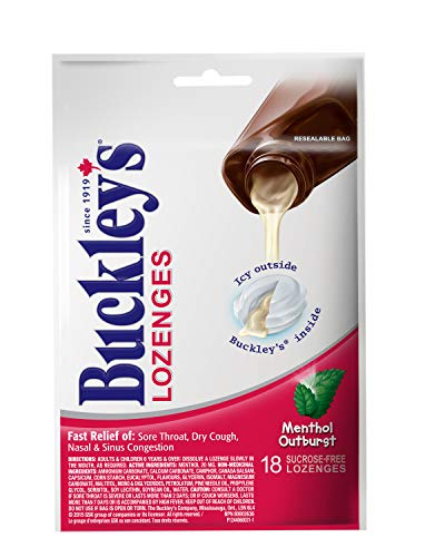 Extra Strength Lozenges - BUCKLEY'S LOZENGES 18 Menthol Outburst x 2 pack