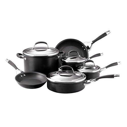 Circulon Elite 10 Piece Cookware Set in Charcoal (Circulon Elite 10 Piece Cookware Set Charcoal)