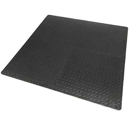 9TRADING 16sqft Floor Mat Interlocking Puzzle Rubber Foam Gym Fitness Exercise Tile New