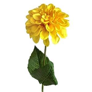 45 cm ukgd Zinnia flor vástago - amarillo