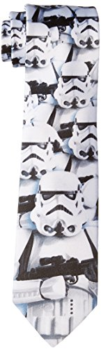Star Wars Men's Stormtroopers Army Tie, White, One Size
