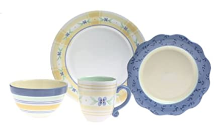 Pfaltzgraff Summer Breeze 16-Piece Stoneware Dinnerware Set Service for 4  sc 1 st  Amazon.com & Amazon.com | Pfaltzgraff Summer Breeze 16-Piece Stoneware Dinnerware ...