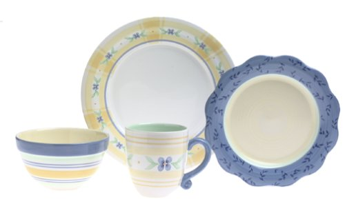 Amazon.com | Pfaltzgraff Summer Breeze 16-Piece Stoneware Dinnerware Set Service for 4 Dinnerware Sets  sc 1 st  Amazon.com & Amazon.com | Pfaltzgraff Summer Breeze 16-Piece Stoneware Dinnerware ...