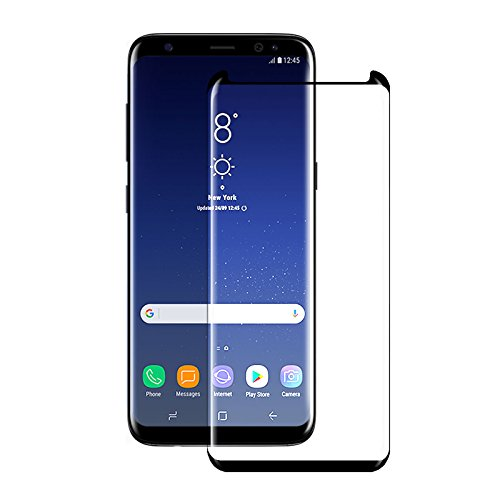 Samsung S8 Plus Tempered Glass Screen Protector Case Friendly, JOREMA 3D curved Edge,Full Coverage Anti-Scratch,HD Clear,,Bubble Free,Anti-Fingerprint Glass Screen Protector For Galaxy S8 Plus