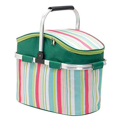 Kylinyyl Insulated Portable Tote Bag - Large Picnic Lunch Cooler Bags - Mens and Womens Oversized Travel Totes for Food, Beverages and Wine (Color : Green) -