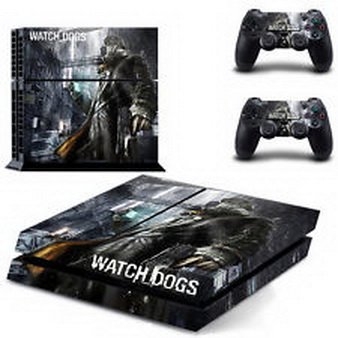 (Super18 game® Watch Dogs Wrap Body Skin Sticker Decal for Playstation 4 Console+Controllers )