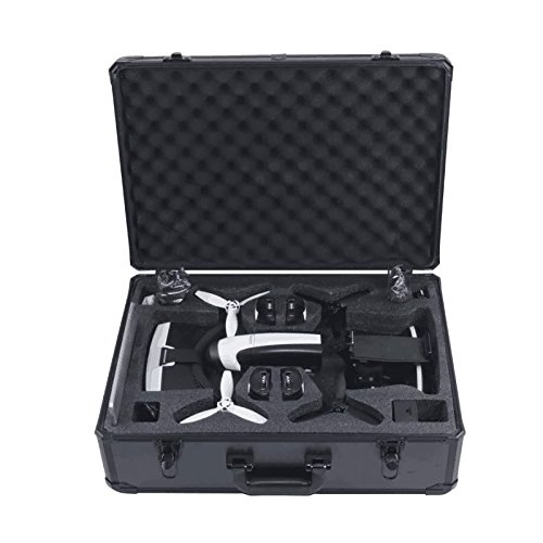 HUL Aluminum Carrying Case for Parrot Bebop 2 FPV and Skycontroller 2 with VR Goggles]()