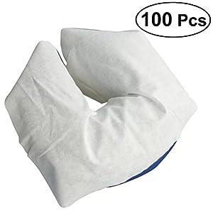 b06127854 Rosenice – 100 fundas de masaje desechables para reposacabezas de cara suave  y antiadherente