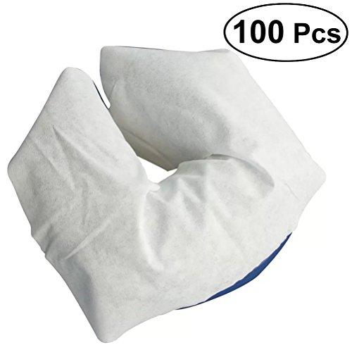 ULTNICE 100Pcs Soft Non-Sticking Face Rest Covers Disposable Massage Face Cradle Cover
