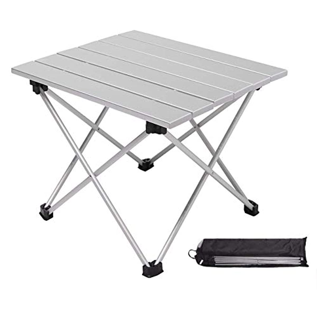 [해외] 우토도아테부루 알루미늄제 캠프 테이블 접이식 콤팩트 테이블 내하중30KG 내열 방수튼튼함경량…