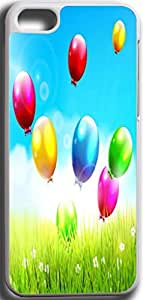Dseason Iphone 5C Case,Fashion printing series,High quality hard plastic material Metal seven colourful balloons