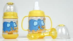 Nuby BPA FREE Infant Feeder Feeding Bottle Set, Colors May Vary