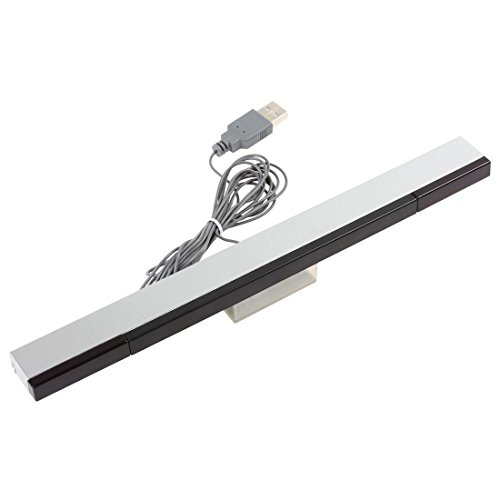 Wii Pc - 【The Best Deal】OriGlam Wii Sensor Bar USB Replacement - Works with Nintendo Wii / Wii U / PC - Best SensorBar for Computers - Compatible with Windows Xp, Vista, 7, 8