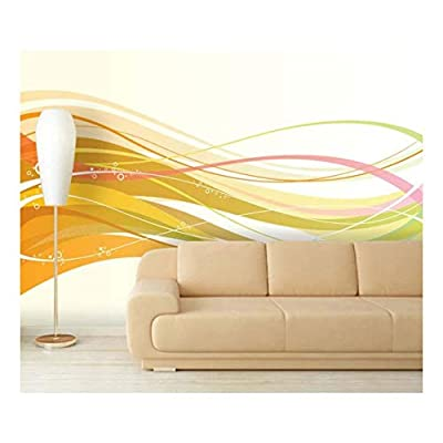 Incredible Creative Design, Made For You, Large Wall Mural Abstract Colorful Lines Vinyl Wallpaper Removable Decorating